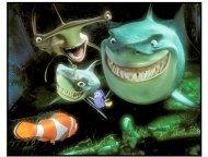 """Finding Nemo"" Movie Still: Bruce,  Anchor, Chum"