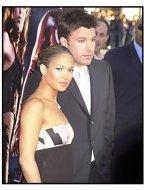 "Ben Affleck and fiancee Jennifer Lopez at the ""Daredevil"" premiere"