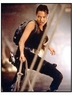 Tomb Raider movie still: Angelina Jolie