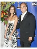 Teri Hatcher and Jim Belushi backstage at the 2004 Emmy Awards