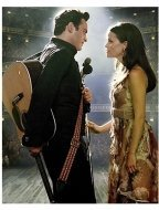 Joaquin Phoenix as Johnny Cash and Reese Witherspoon as June Carter in Walk The Line
