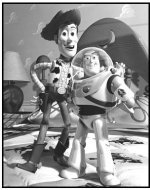 """Toy Story"" Movie still: Buzz Lightyear and Woody"