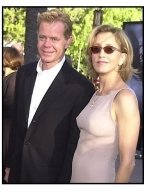 William H Macy and Felicity Huffman at the Jurassic Park III premiere