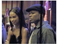 Get Rich or Die Tryin' Movie Still: Joy Bryant and Curtis '50 Cent' Jackson