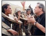 """Lost in La Mancha"" movie still: Director Terry Gilliam and Johnny Depp"