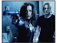 """Underworld"" Movie Still: Kate Beckinsale  and Scott Speedman"