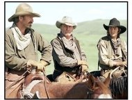 """Open Range"" Movie Still:Kevin Costner, Robert Duvall,  and Diego Luna"