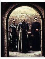 """""""The Matrix Reloaded"""" Movie Still: Keanu Reeves, Laurence Fishburne, Carrie-Anne Moss"""