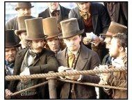 Gangs of New York movie still: Daniel Day-Lewis and Leonardo DiCaprio