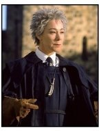 Harry Potter movie still: Zoe Wanamaker as Madame Hooch