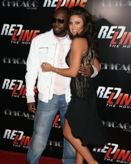 Wyclef Jean and Nadia Bjorlin