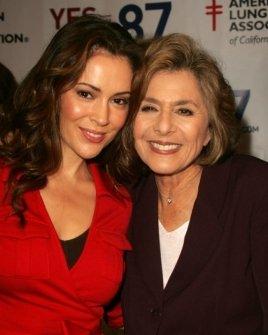Alyssa Milano and Senator Barbara Boxer