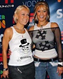 Oksana Baiul and Blu Cantrell