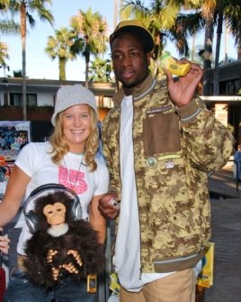 Hannah Teter and Dwayne Wade