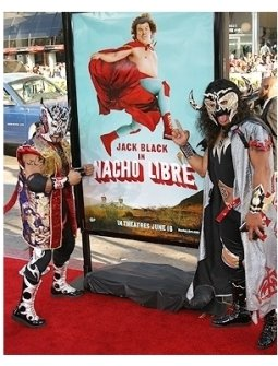 Nacho Libre Premiere Photos:  El Oriental and Psycosis