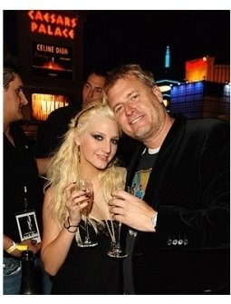 Ashlee toast with her father Joe Simpson