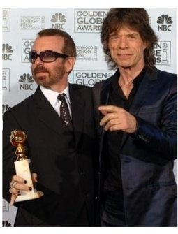 Dave Stewart and Mick Jagger at the 62nd Annual Golden Globe Awards: Press Room