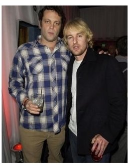 Vince Vaughn and Owen Wilson at the 2004 Motorola Holiday Party