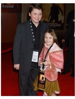 Spencer Breslin and Abigail Breslin at the National Treasure Premiere