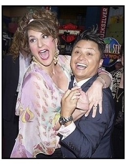 """Alec Mapa and Nia Vardalos at the """"Connie and Carla"""" Premiere"""