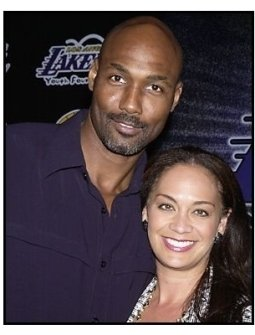 Karl Malone and date at the Palms  Casino Royale to Benefit the Lakers Youth Foundation