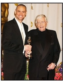 76th Annual Academy Awards - Jim Carrey with Blake Edwards-Backstage