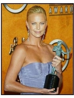 10th Annual SAG Awards - Charlize Theron- Backstage