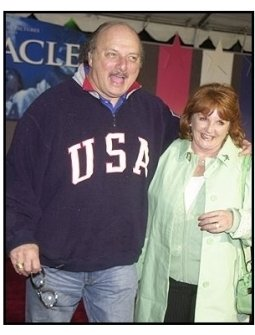 """Dennis Franz and wife Joanie at the """"Miracle"""" premiere"""