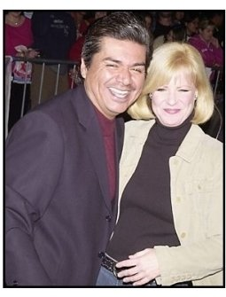 "Geroge Lopez and Bonnie Hunt at ""The Haunted Mansion"" Premiere"
