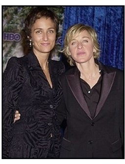 Ellen DeGeneres and Alexandra at the HBO party following the 55th Annual Primetime Emmy Awards