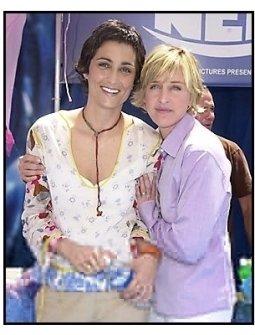 "Ellen DeGeneres with Alexandra Hedison at the ""Finding Nemo"" premiere"