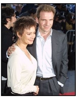 Ralph Fiennes and girlfriend Francesca Annis at the Enough premiere