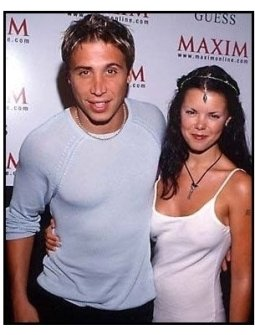 Erik Palladino and Sarah-Jane Potts at the 2000 Maxim Motel Party