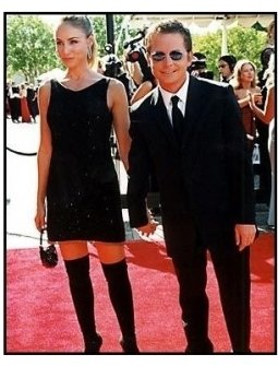 Tracy Pollan and Michael J. Fox at the 2000 Creative Arts Emmys