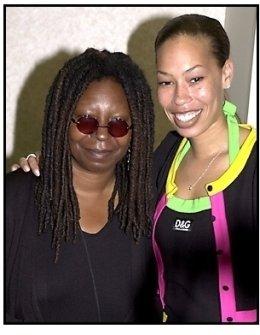 Whoopi Goldberg and daughter at the 2001 Crystal Awards