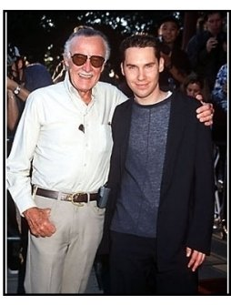 """Stan Lee and Bryan Singer at the """"X-Men"""" Premiere"""