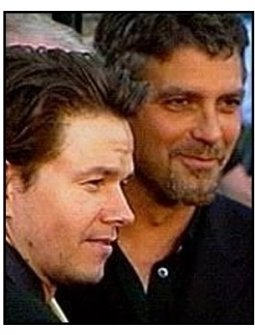 Perfect Storm premiere video still: George Clooney and Mark Wahlberg