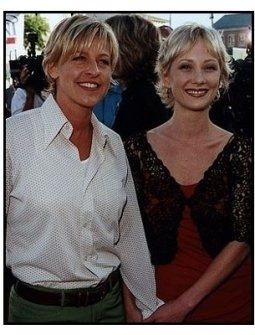"Ellen DeGeneres and Anne Heche at the ""Contact"" Premiere"