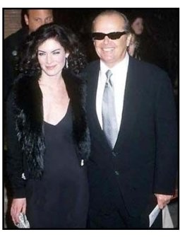 The Pledge premiere: Jack Nicholson and Lara Flynn Boyle at The Pledge premiere