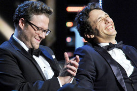 Seth Rogen and James Franco during The Comedy Central Roast of James Franco
