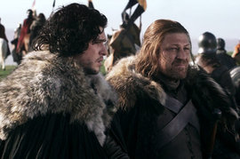 Kit Harington and Sean Bean, Game of Thrones