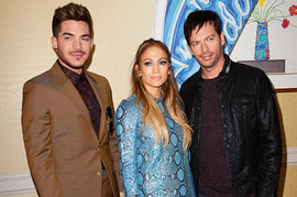 Adam Lambert, Jennifer Lopez, Harry Connick Jr.