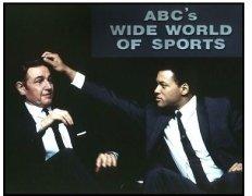 Ali movie still: Jon Voight as Howard Cosell and Will Smith as Muhammad Ali