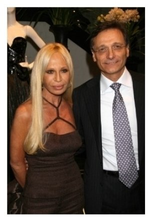 Donatella Versace and Giancarlo Di Risio