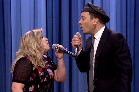 Kelly Clarkson, Jimmy Fallon, The Tonight Show Starring Jimmy Fallon
