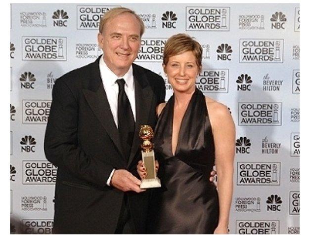 63rd Golden Globes Backstage Photos: James Keach and Cathy Konrad