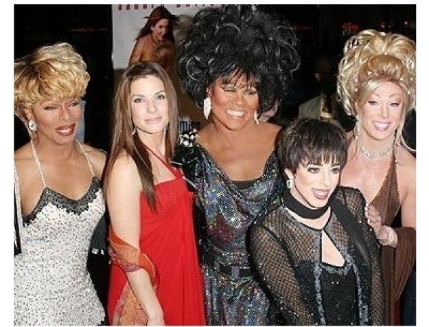 Miss Congeniality 2 Premiere: Sandra Bullock and Frank Marino (right) with female impersonators