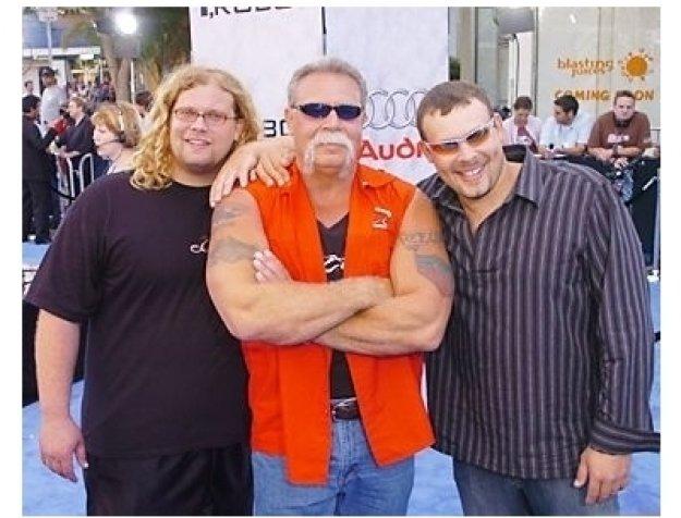 """Mike Teutul, Paul Teutul Sr. and Paul Teutul Jr. at the """"I, Robot"""" Premiere"""