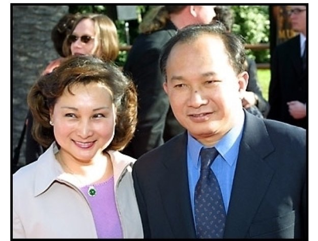 John Woo and wife at The Mummy Returns premiere