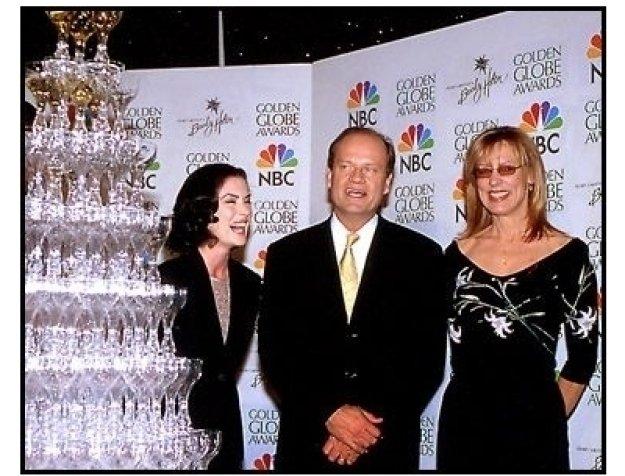 Lara Flynn Boyle, Kelsey Grammer and Christine Lahti at the 2001 Golden Globe nominations